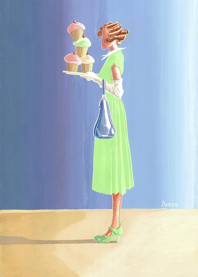 Aaron Painting - The Cupcake Lady by Aaron Clark