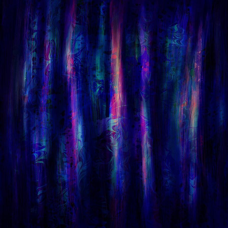 Abstract Digital Art - The Curtain by Rachel Christine Nowicki