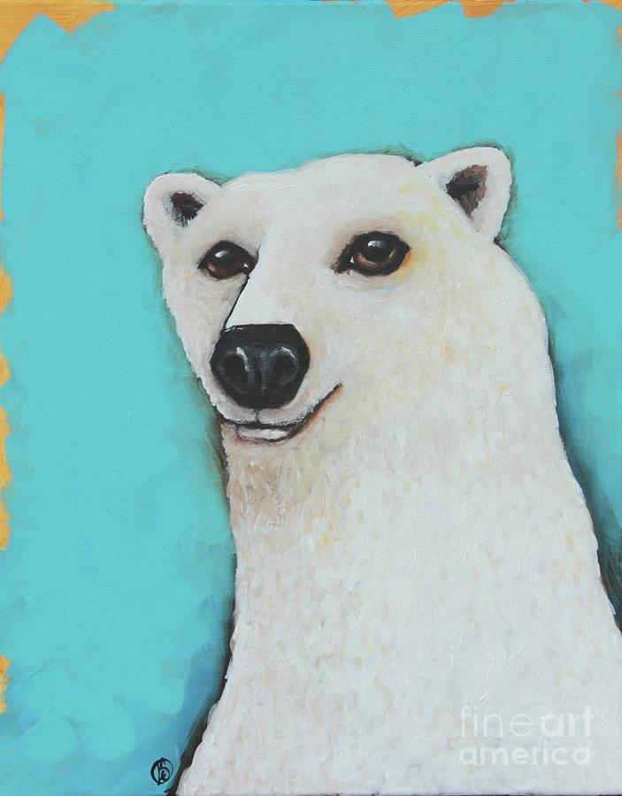 Polar Bear Painting - The Cute Polar Bear by Lucia Stewart