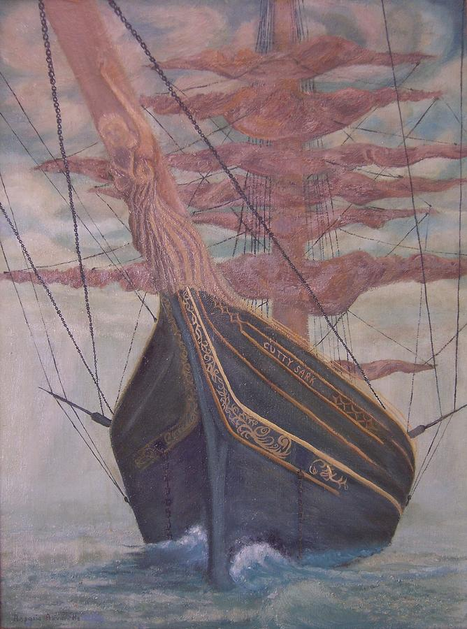 Cutty Sark Painting - The Cutty Sark by Aspasia Arvanitis