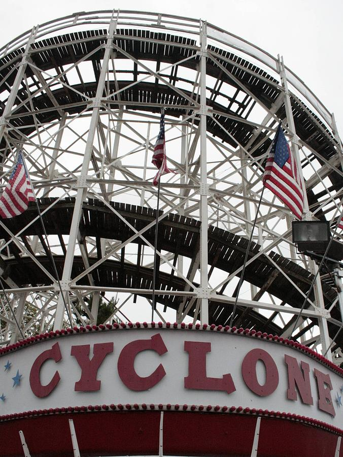 Rollercoasters Photograph - The Cyclone At Coney Island by Christopher Kirby