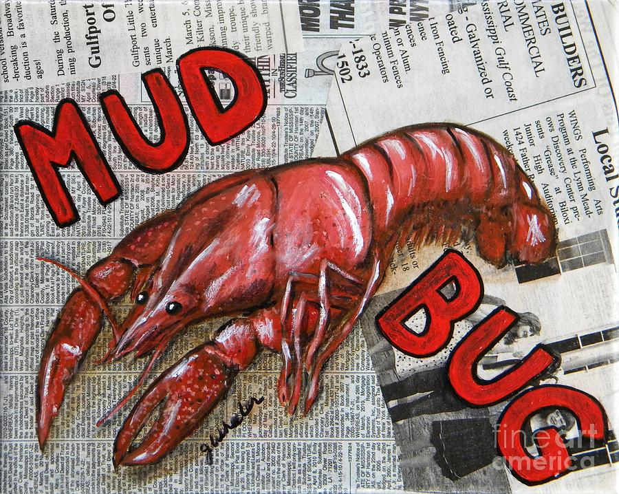 Crab Painting - The Daily Mud Bug by JoAnn Wheeler