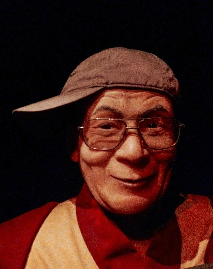 The Photograph - The Dali Lama Wearing My Hat by Bill Cannon