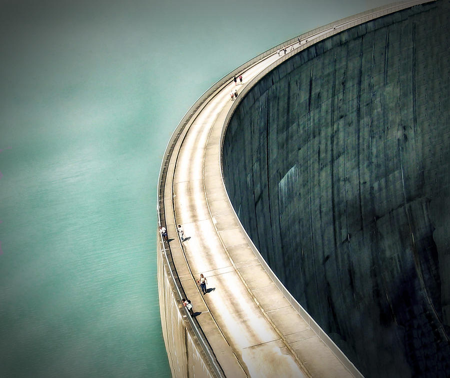 Architecture Photograph - The Dam ... by Anna Cseresnjes