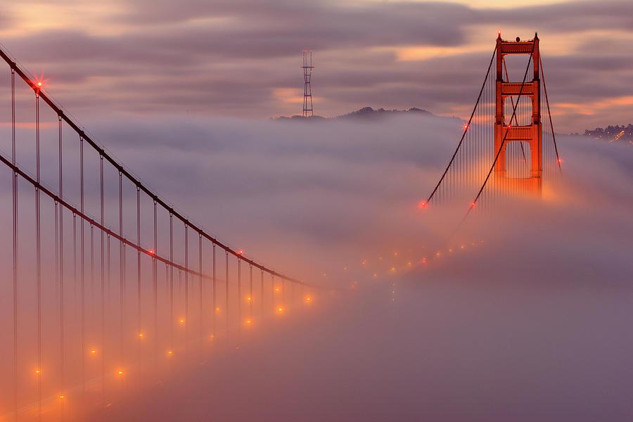 San Francisco Photograph - The Dance Above The Bridge by Erick Castellon