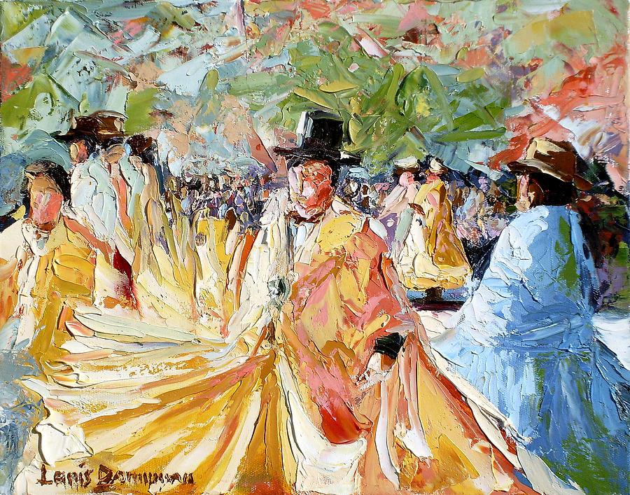 La Paz Painting - The Dance At La Paz by Lewis Bowman