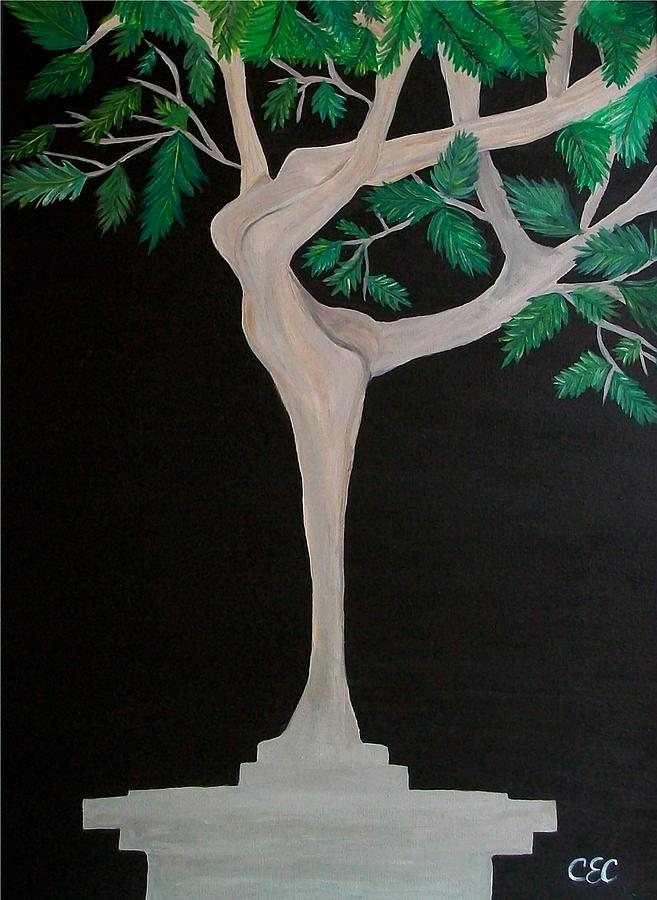 Tree Painting - The Dance by Carolyn Cable