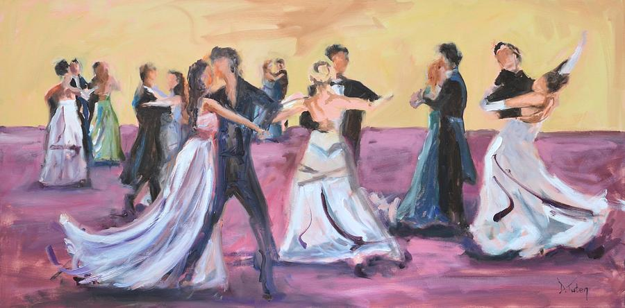 Ballroom Dance Painting - The Dance by Donna Tuten