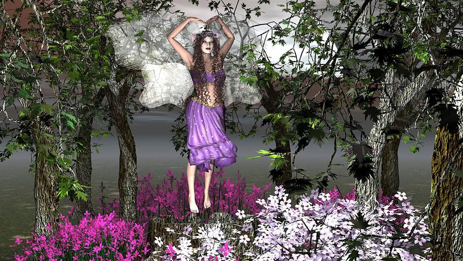 Fairy Mixed Media - The Dance by Eva Thomas