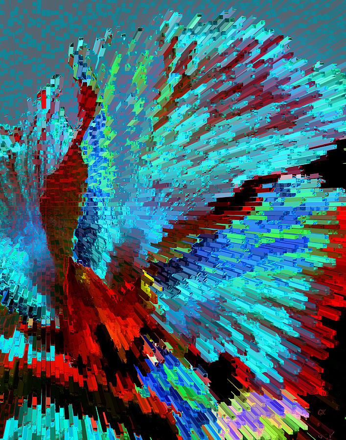 Abstract Digital Art - The Dance by Gerlinde Keating - Galleria GK Keating Associates Inc