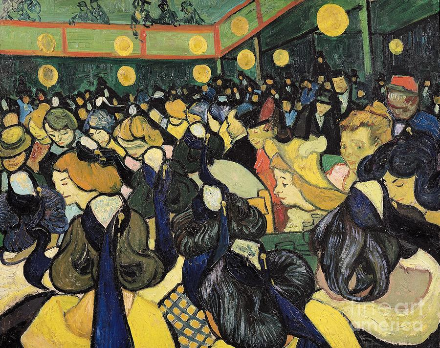 The Painting - The Dance Hall At Arles by Vincent Van Gogh