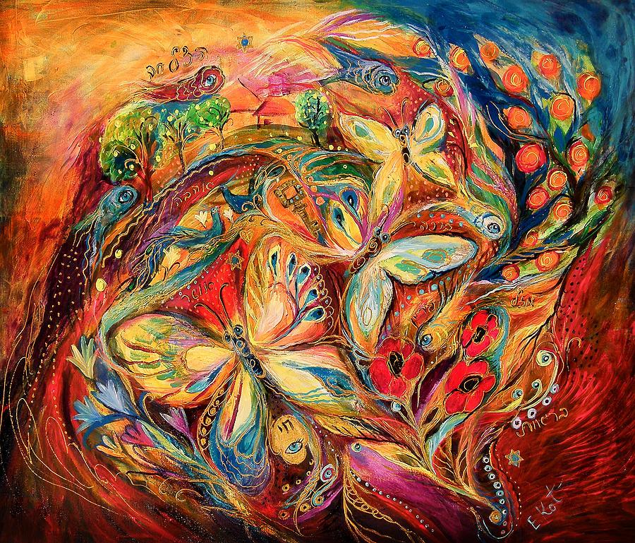Original Painting - The Dance Of Butterflies by Elena Kotliarker