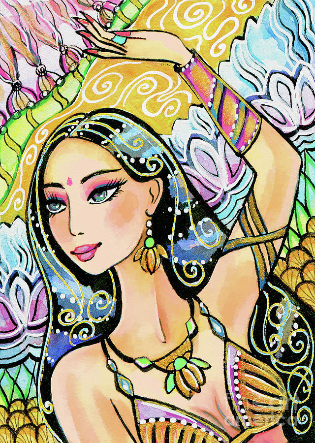 Belly Dancer Painting - The Dance Of Daksha by Eva Campbell