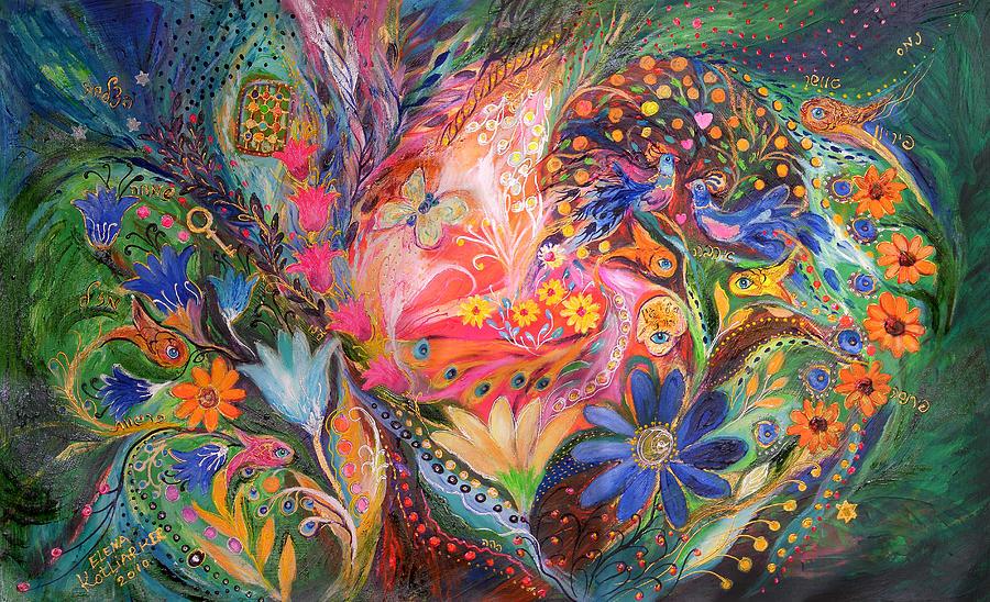 Original Painting - The Dance Of Flowers by Elena Kotliarker