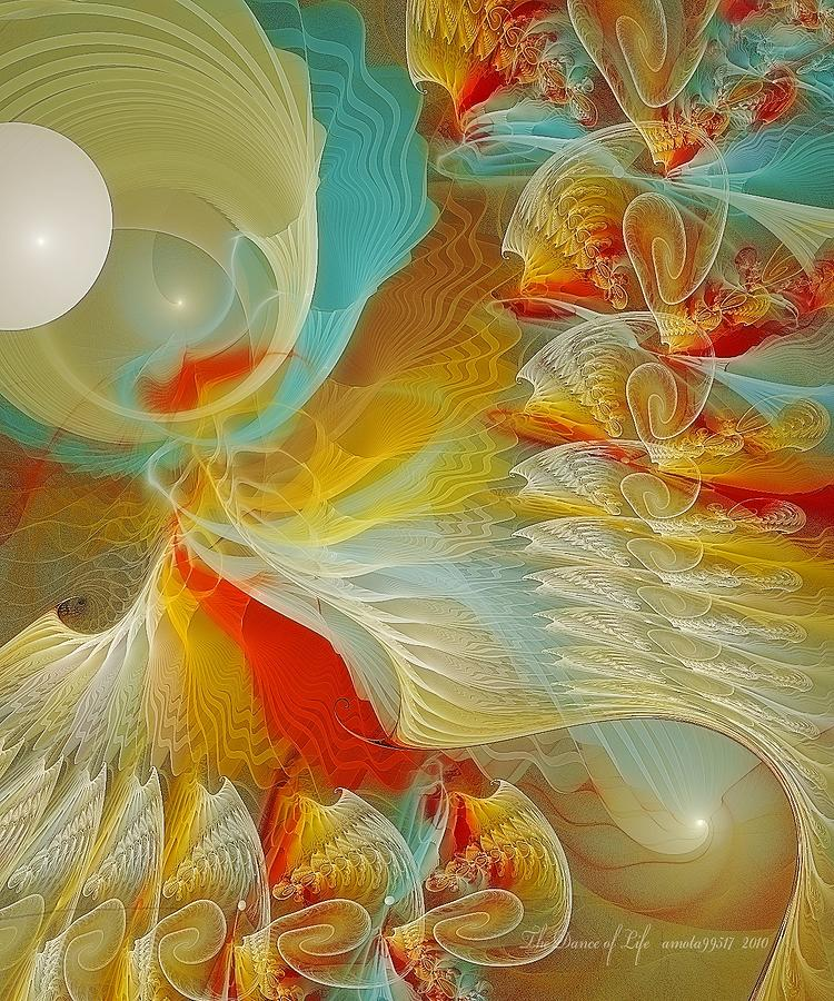 Fractal Photograph - The Dance Of Life by Gayle Odsather