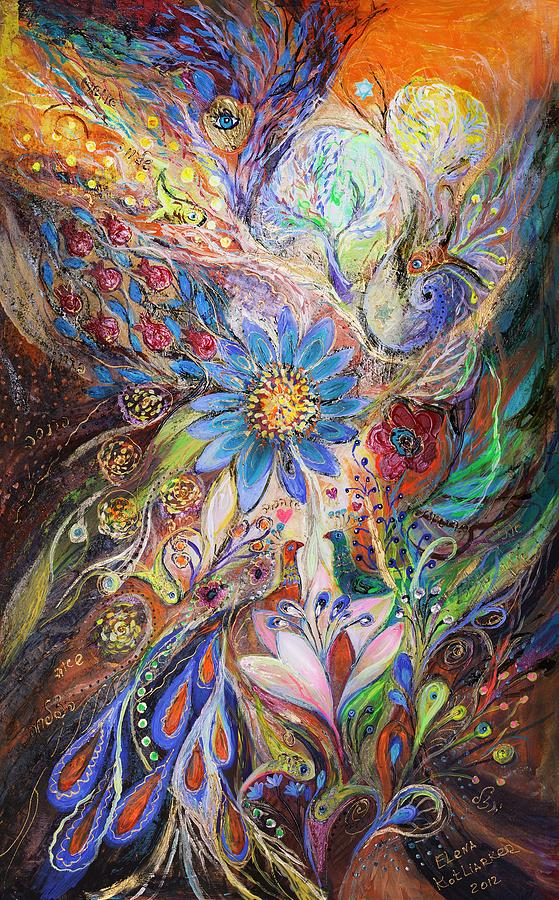 Judaica Painting - The Dance Of Light by Elena Kotliarker