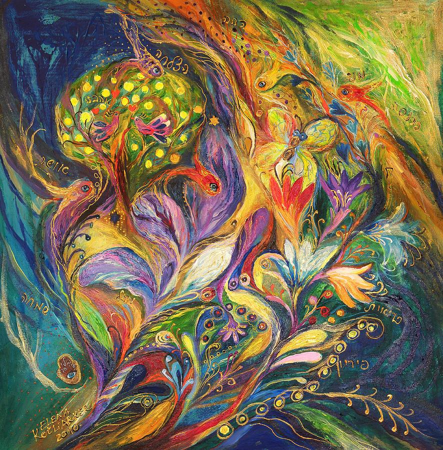 Original Painting - The Dance Of Lilies by Elena Kotliarker