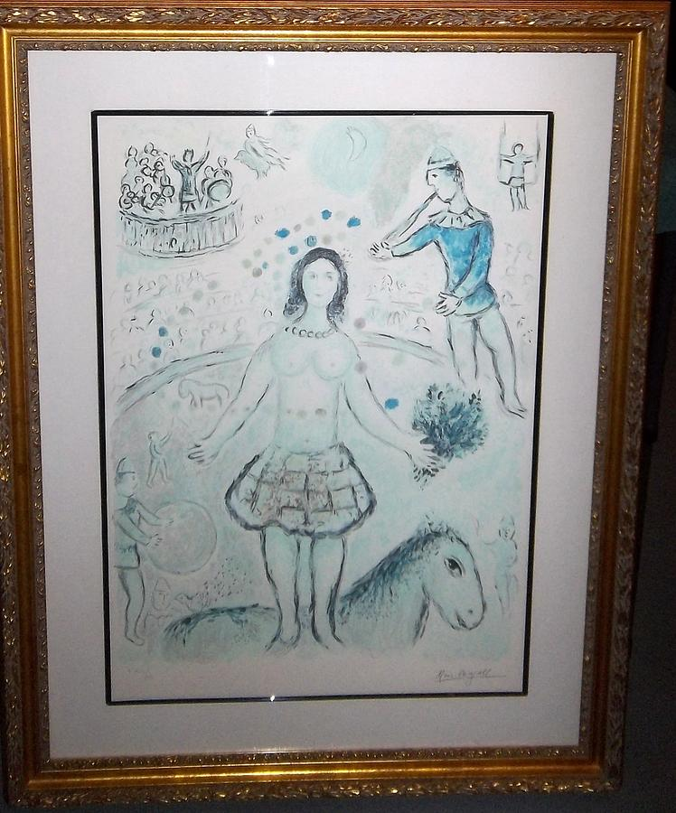 Marc Chagall Mixed Media - The Dancer And The Flutist by Marc Chagall