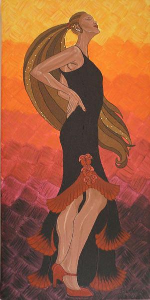 Dancer Painting - The Dancer by Emmely  Hillewaert