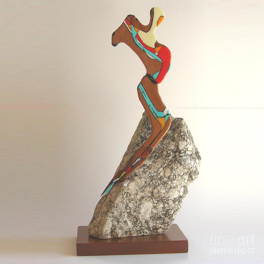 Glass Sculpture - The Dancer by Lindsay Ferreira