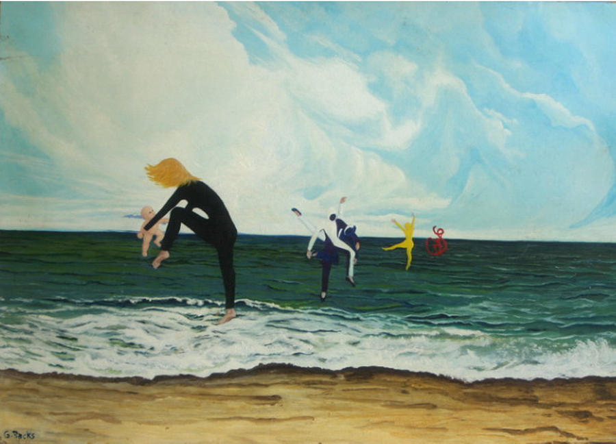 Surreal Painting - The Dancers by Georgette Backs