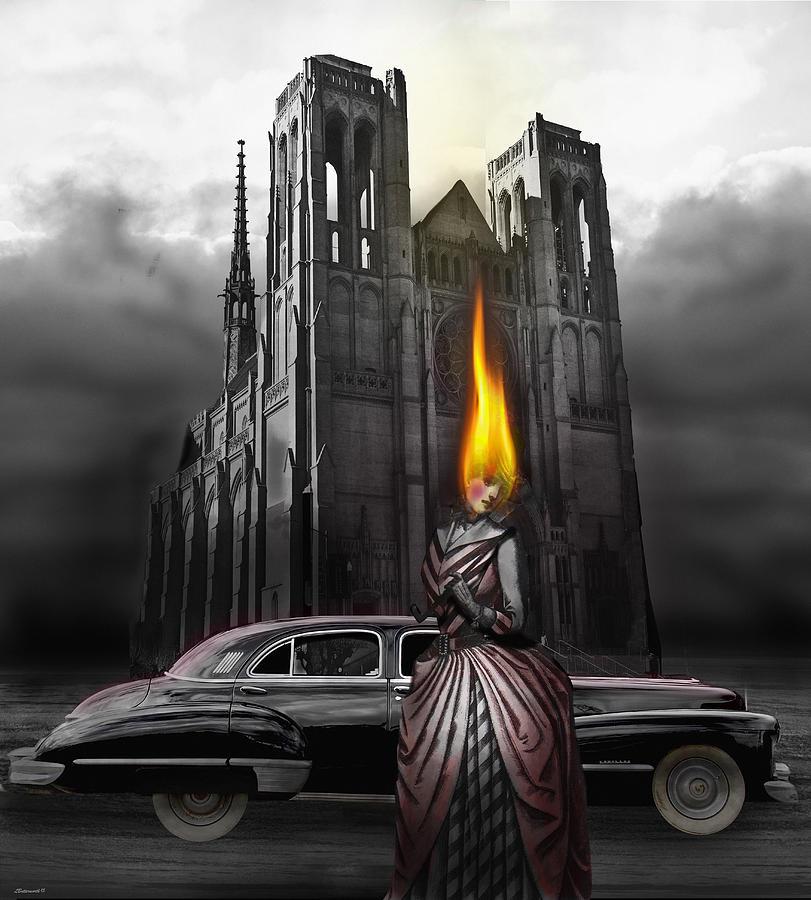 Surrealism Digital Art - The Dark Angel by Larry Butterworth