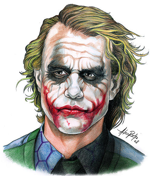 Dark Knight Joker Sketch Art