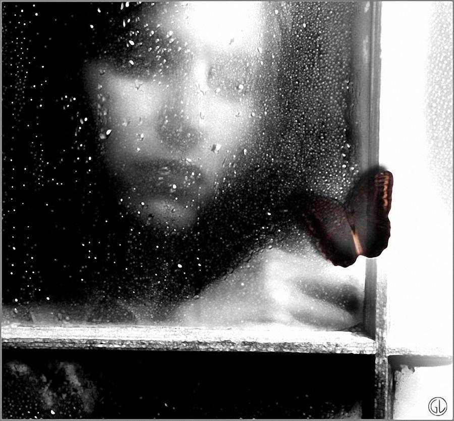 Rainy Window Digital Art - The Dark Side Of Autumn by Gun Legler