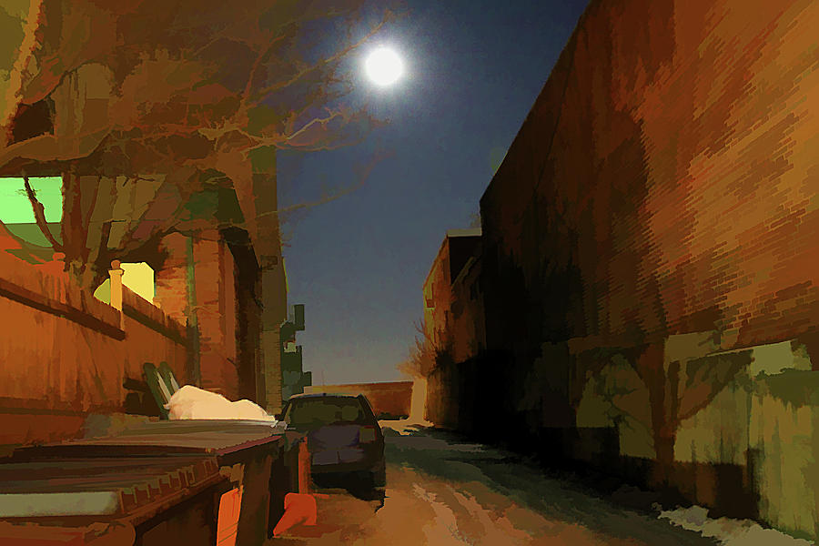 Alley Digital Art - The Darkness Never Goes by Christine Segalas