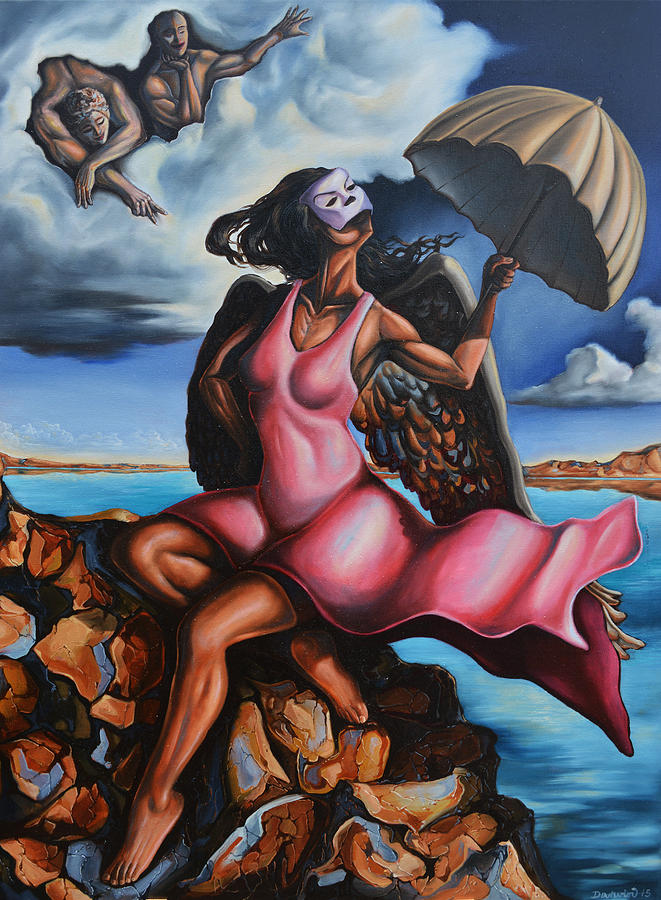 Surrealism Painting - The daughter of Men by Darwin Leon