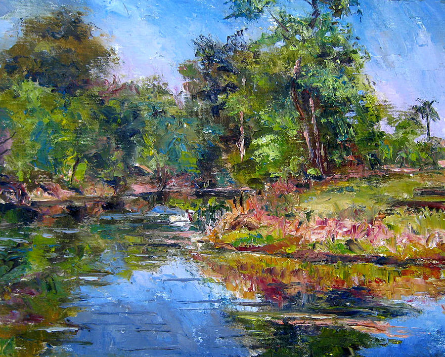 Oil Painting Painting - The Davie Canal by Mark Hartung