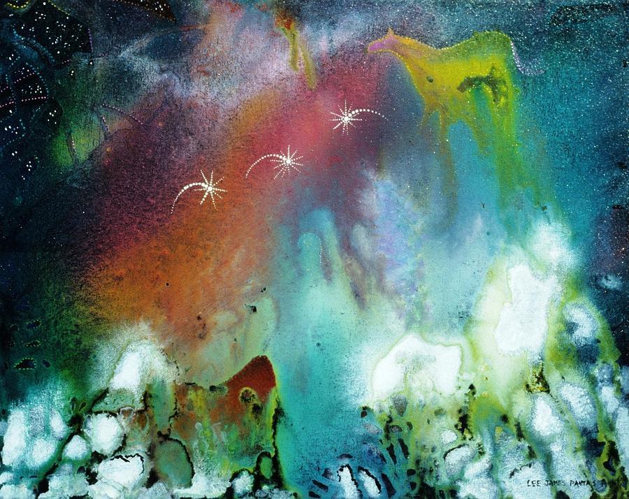 Spiritual Painting - The Dawn Horse by Lee Pantas
