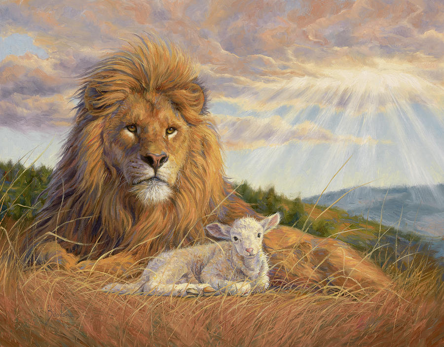 Lion Painting - The Dawning Of A New Day by Lucie Bilodeau