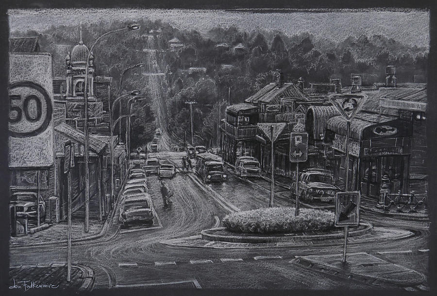The Day It Snowed, Armidale Nsw Drawing