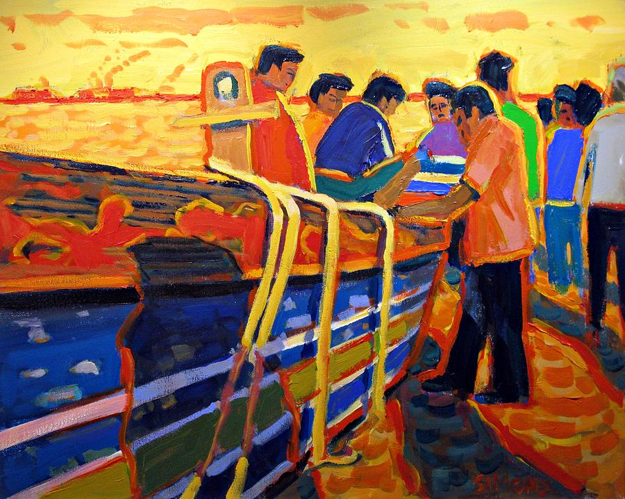 Paintings Painting - The Days Catch by Brian Simons