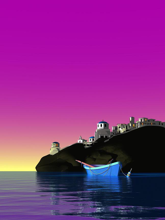 Greek Islands Digital Art - The Days End by Stephen Harlan