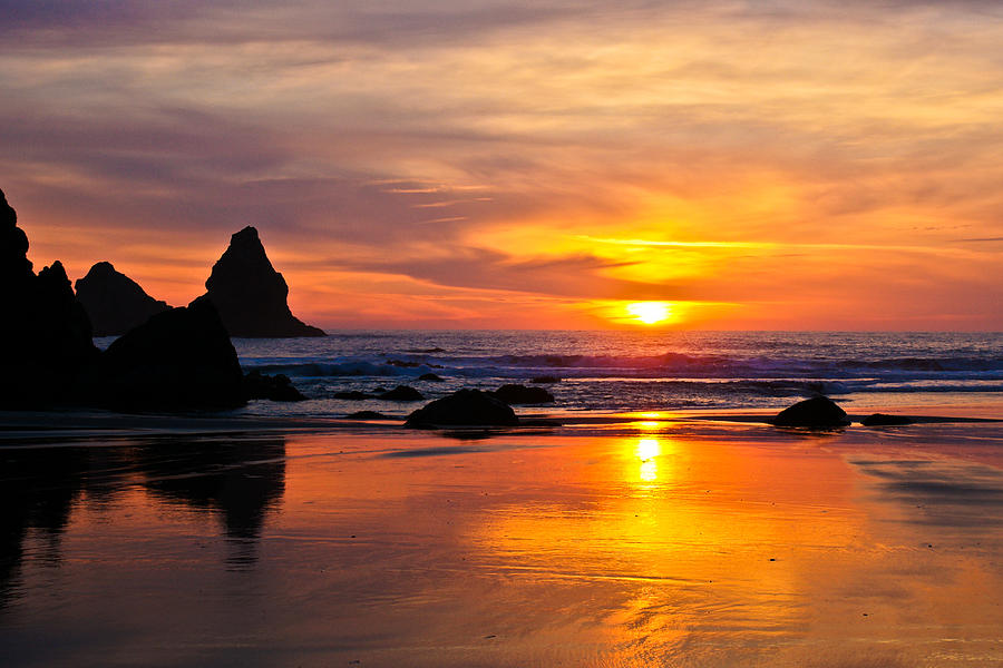Sunset Photograph - The Days Reflections by Jake Johnson