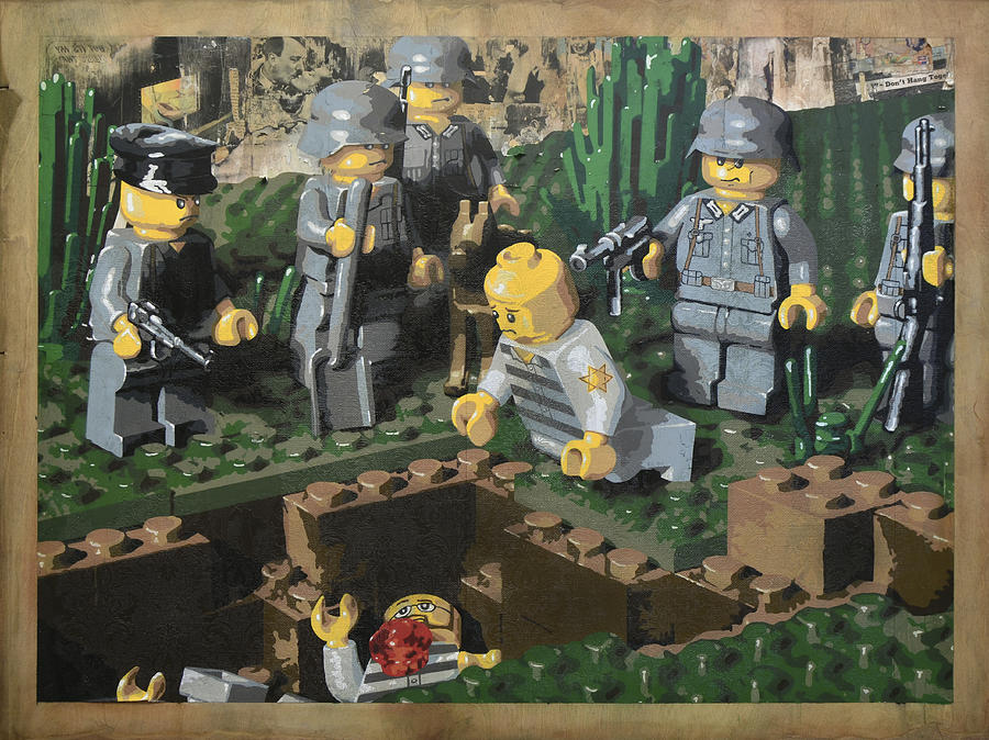Lego Painting - The Death Of 90064 by Josh Bernstein