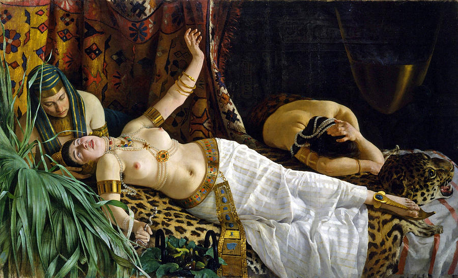 The Death Of Cleopatra Painting - The Death of Cleopatra by Achille Glisenti
