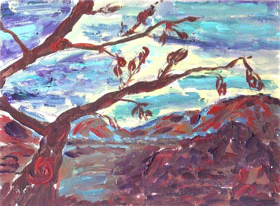 Landscape Painting - The Death Of The Apple Tree by Mary Sedici