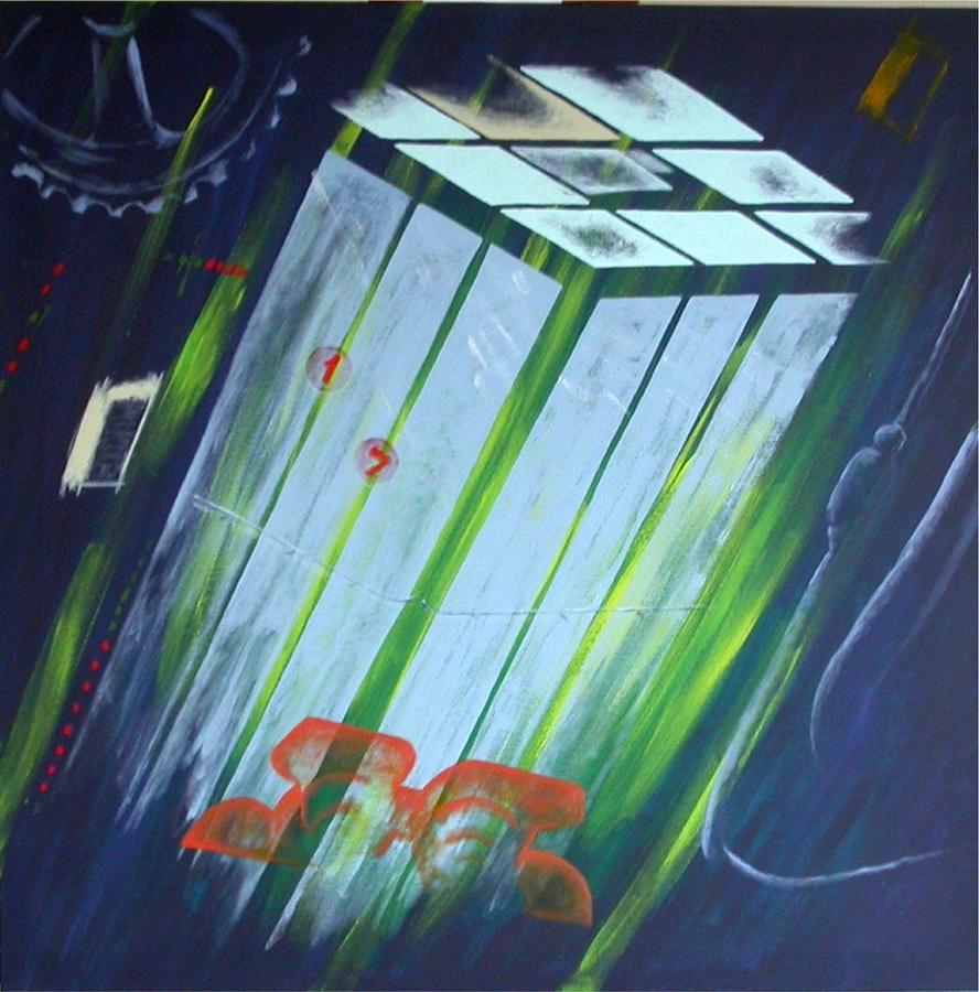 Death Painting - The Death Song Of The Elevator by Poul Costinsky