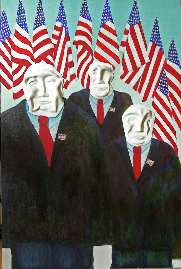 Political Painting - The Deciders by Merle Citron   ARTIST