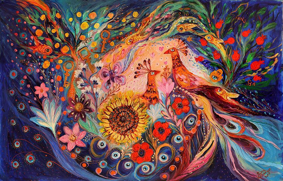 Judaica Store Painting - The Deep Blue Evening II by Elena Kotliarker