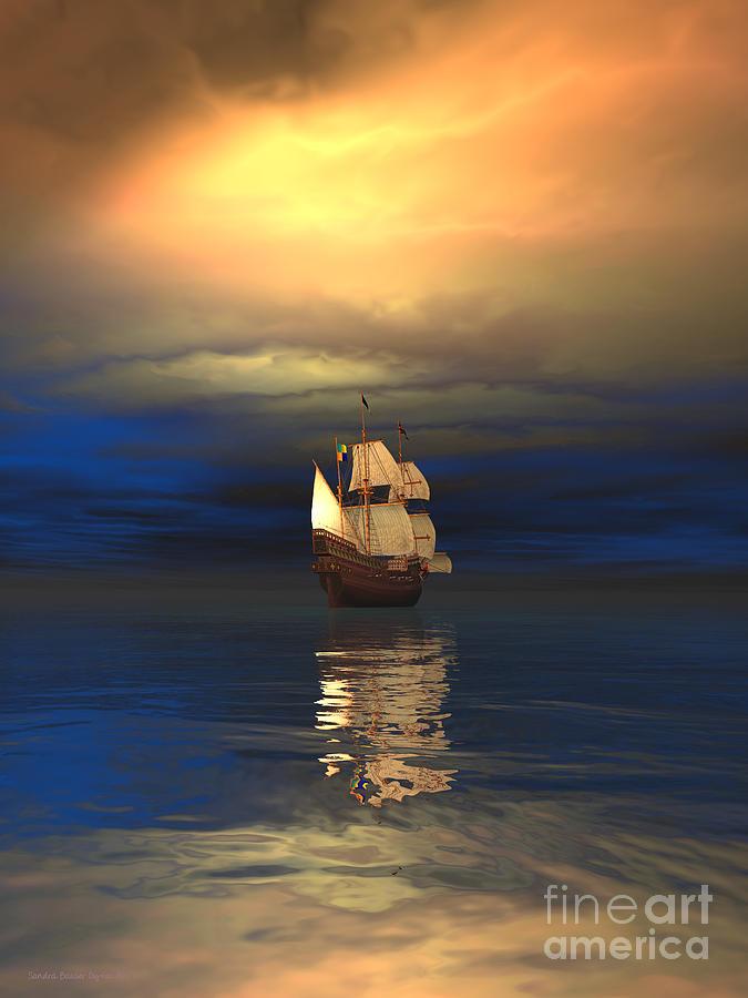 Bryce Digital Art - The Deep Blue Sea by Sandra Bauser Digital Art
