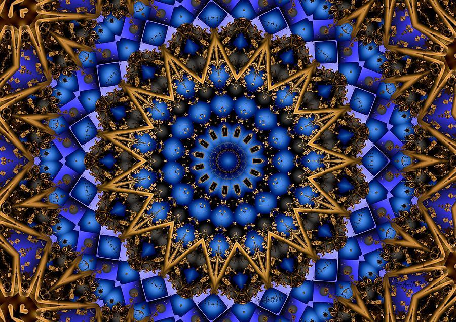 Mandala Digital Art - The Deep by Robert Orinski
