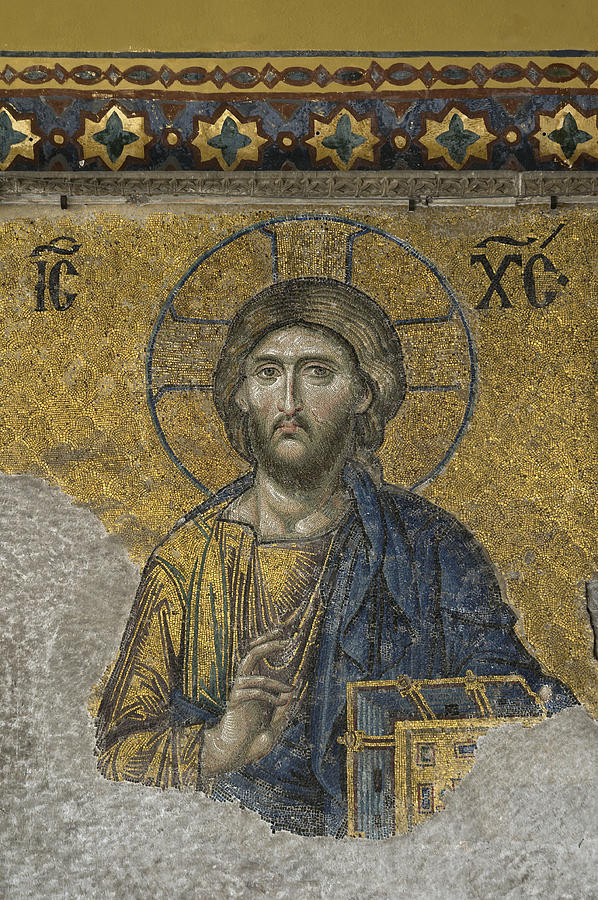 Turkey Photograph - The Dees Mosaic In Hagia Sophia by Ayhan Altun
