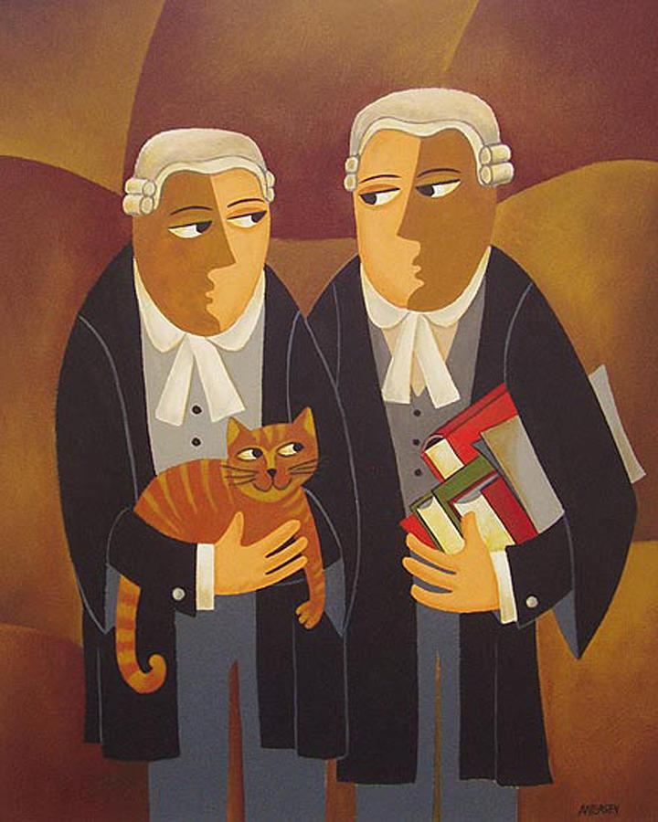 Lawyers Painting - The Defendant by THOMAS ANDERSEN wellington gallery