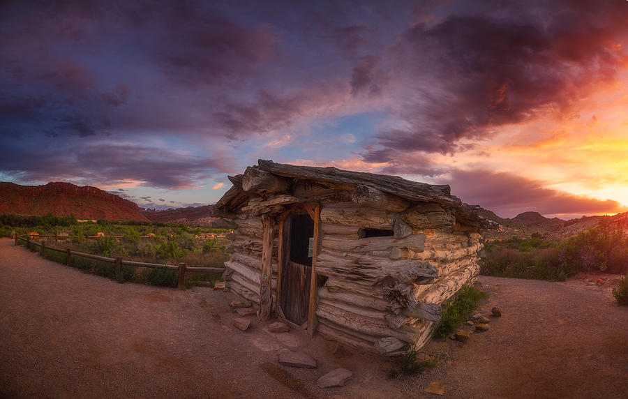 Moab Photograph - The Delicate Little Cabin by Darren White