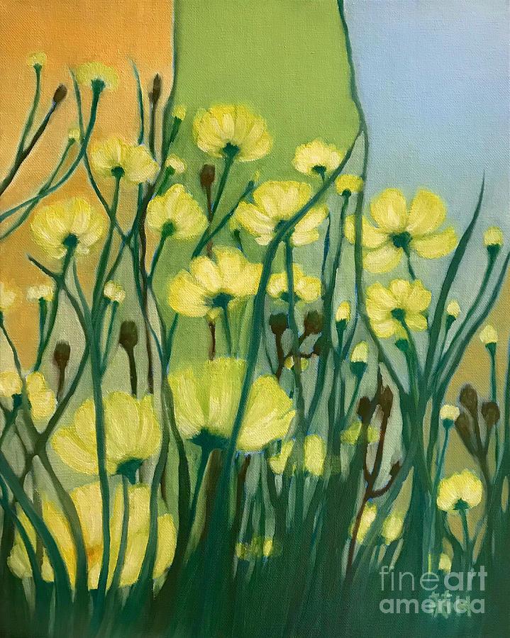 Joyful Painting - The Delightful Garden by Wonju Hulse