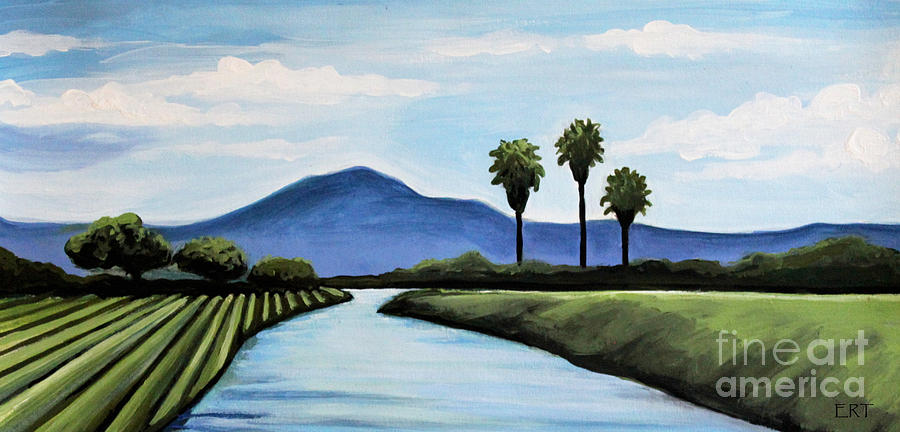 Landscape Painting - The Delta by Elizabeth Robinette Tyndall